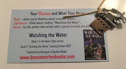 RT Booklovers Convention Swag charms romance novels