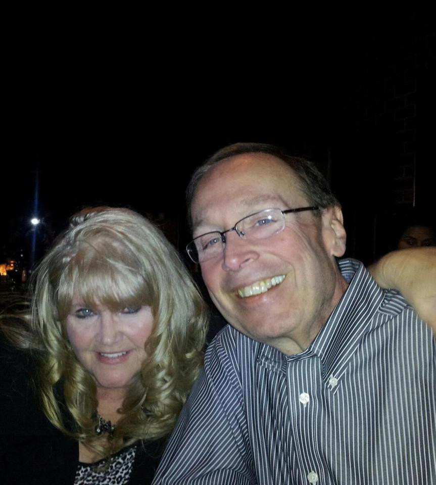 John and me, Valentine's night 2012, one week before the accident that changed everything.