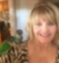 Conure parrots, Brothers Bob with Author Donna Gentry Morton