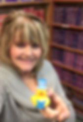 Author from Ducktown with Reading Ducks