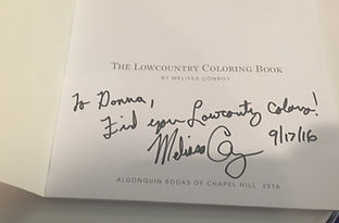 Melissa Conroy, daughter of Pat Conroy, autographs my book