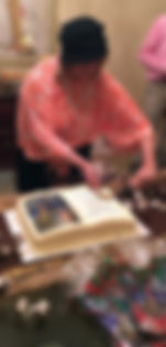Book Launch - Cutting the cake