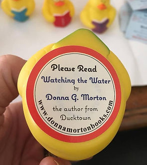 RT Booklovers Convention, swag bag, Ducktown ducks, reading ducks, Watching the Water