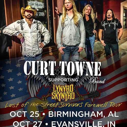 The Curt Towne Band Tour Poster