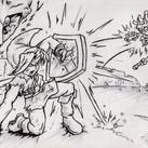 Sketchbook Evelyn Hernandez - Link vs Sk