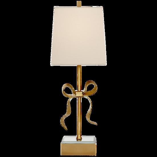 ELLERY GROSGRAIN BOW TABLE LAMP - CREAM SHADE