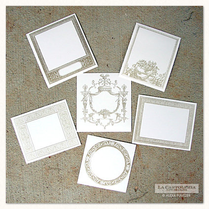 ASSORTED BOOK PLATE SEALS STICKERS, SET OF 9