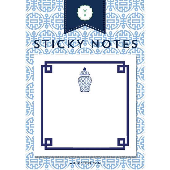 GINGER JAR STICKY NOTES
