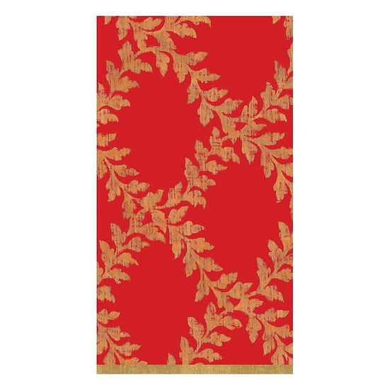 ACANTHUS TRELLIS RED PAPER GUEST TOWEL NAPKINS