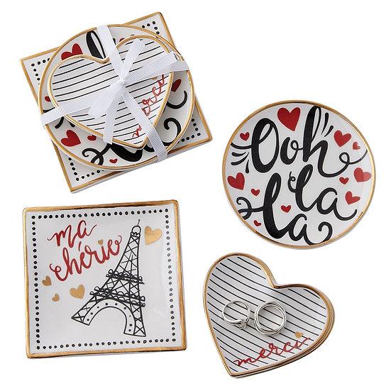 I LOVE PARIS CATCHALL SET OF 3
