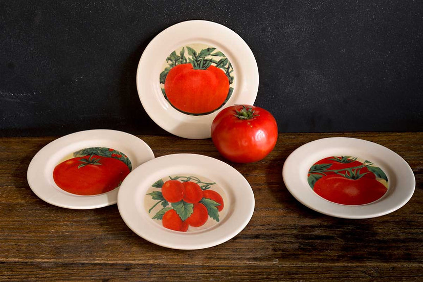 TOMATO APPETIZER PLATES, SET OF 4