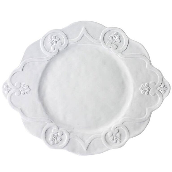 ARTE ITALICA BELLA BIANCA SCALLOPED CHARGER / SERVING PLATTER