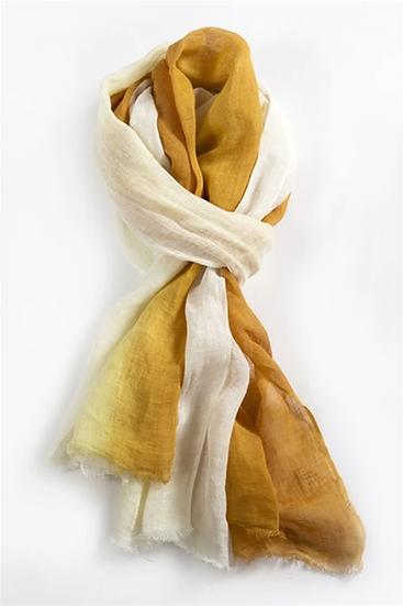 DYED LINEN SCARF