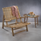 Thumbnail: SAND RIVER MANGO WOOD AND CANE LOUNGE CHAIR