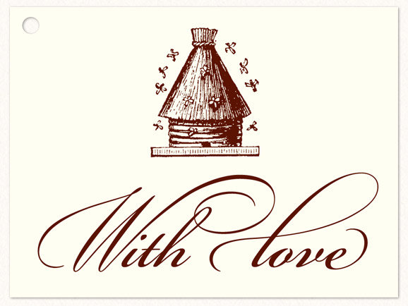 """""""WITH LOVE"""" HONEYBEE GIFT TAGS"""