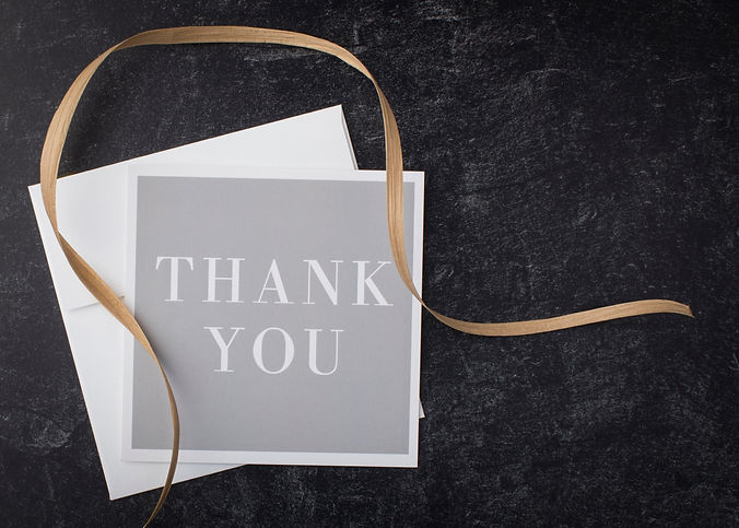 A floral touch makes this thank you note