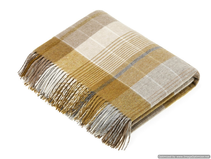 FLORENCE GOLD AND GREY THROW