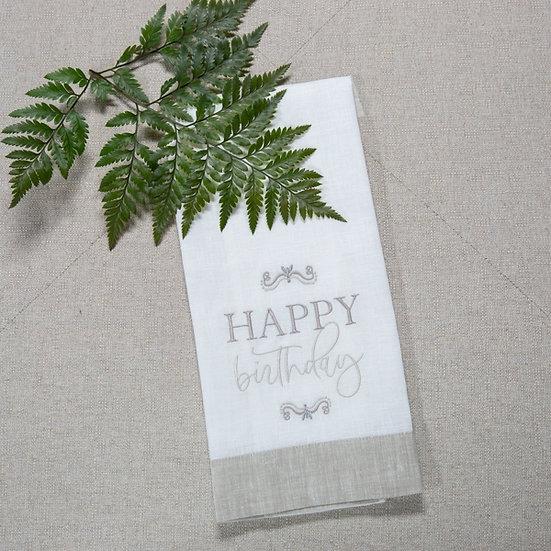 HAPPY BIRTHDAY LINEN TOWEL