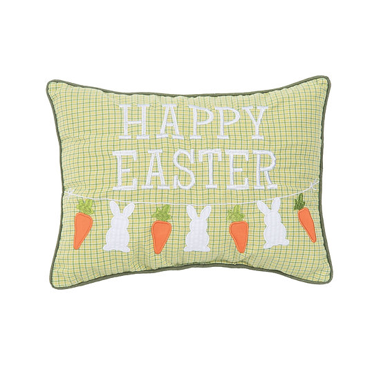 HAPPY EASTER EMBROIDERED AND APPLIQUE PILLOW