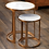 Thumbnail: NIKKI ROUND MARBLE AND RAW ALUMINUM NESTING TABLES