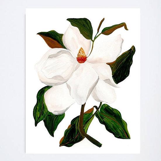 MAGNOLIA FLORAL ART PRINT, 8X10