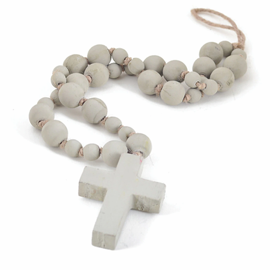 HANDCRAFTED TAUPE BLESSING BEADS