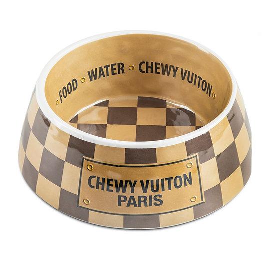 CHECKER CHEWY VUITON BOWL