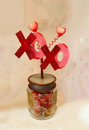 ROUND TOP COLLECTION XOXO CANDY JAR
