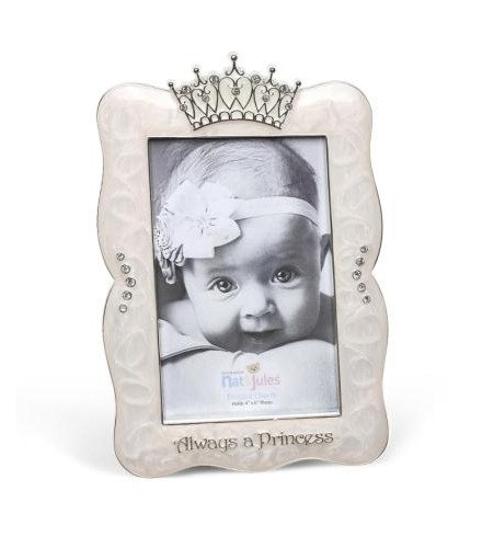 ALWAYS A PRINCESS CROWN FRAME, 4X6