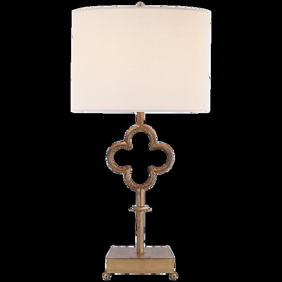 QUATREFOIL TABLE LAMP - GILDED IRON