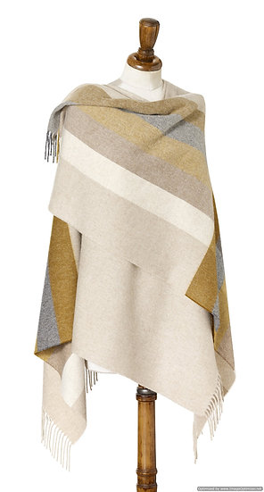 STRIPE WRAP - GOLD AND GREY
