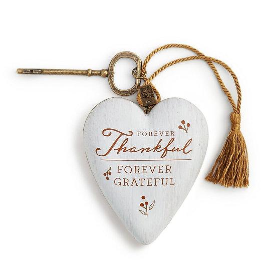 FOREVER THANKFUL ART HEART SCULPTURE