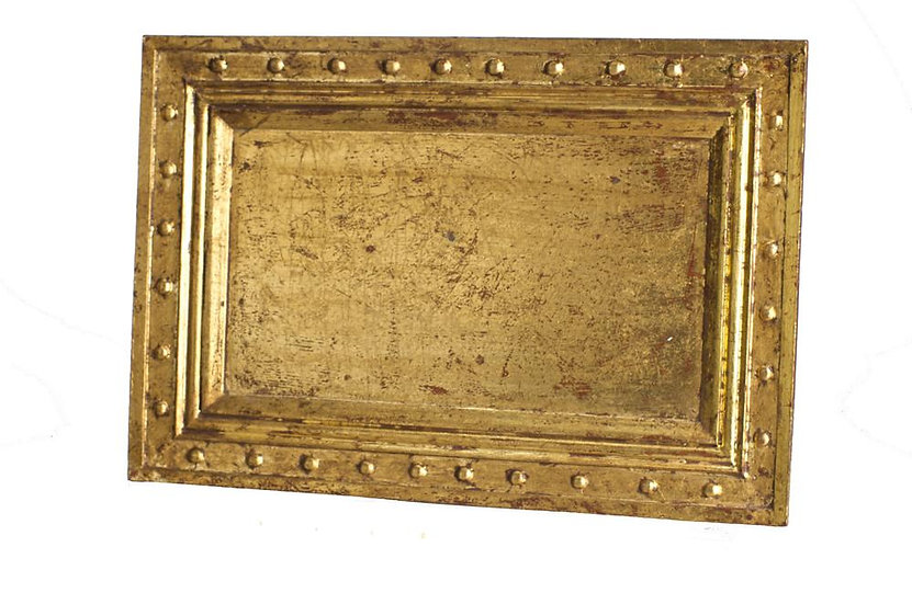 VENDOME WOODEN TRAY IN GOLD LEAF