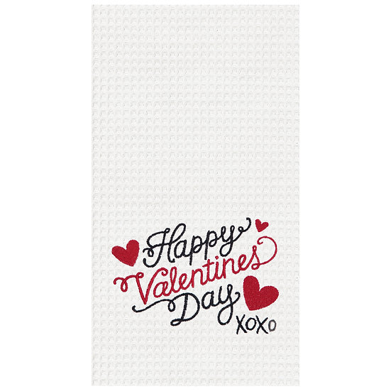 VALENTINE'S DAY EMBROIDERED KITCHEN TOWEL