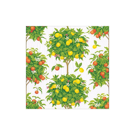 CITRUS TOPIARIES PAPER COCKTAIL NAPKINS