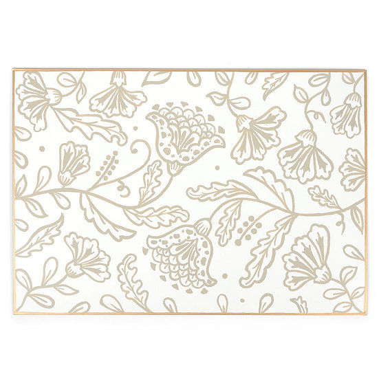 HANDPAINTED TOLE PLACEMATS, SET OF 4