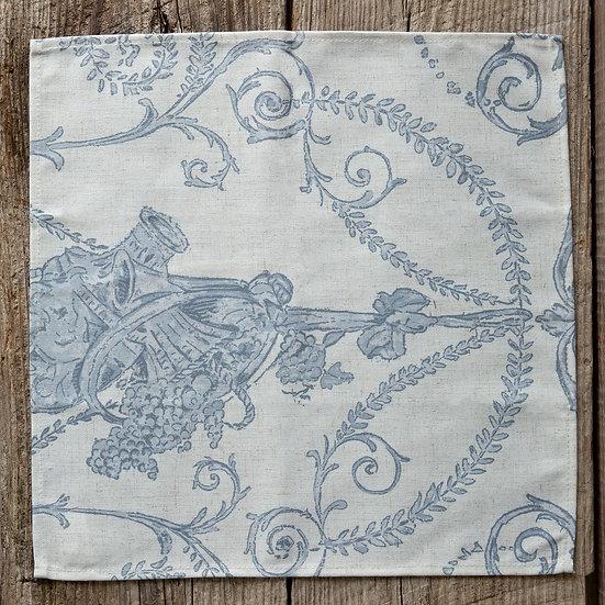 FRENCH QUARTER BLUE CLOTH NAPKINS, SET OF 4