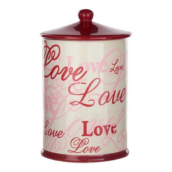 CERAMIC LOVE CANISTER