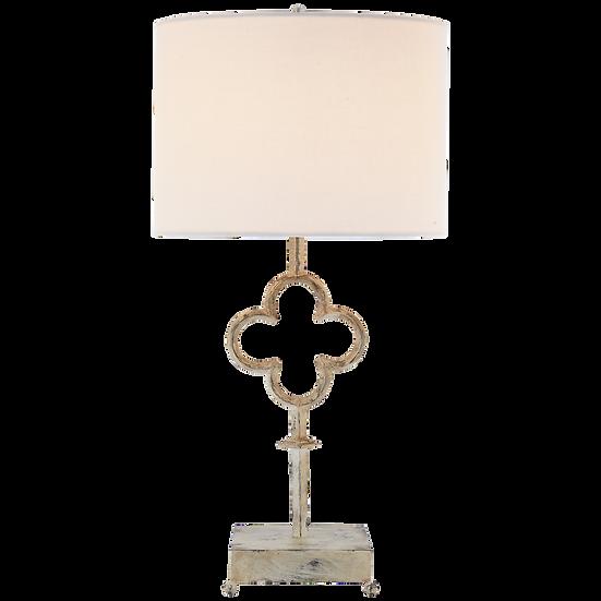 QUATREFOIL TABLE LAMP - BELGIAN WHITE