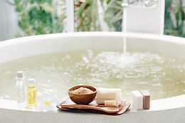 Spa decoration, natural organic products