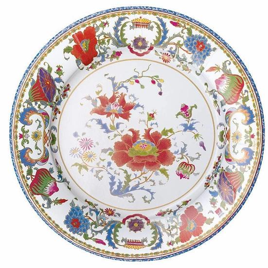 FLORAL CERAMIC PAPER DINNER PLATES