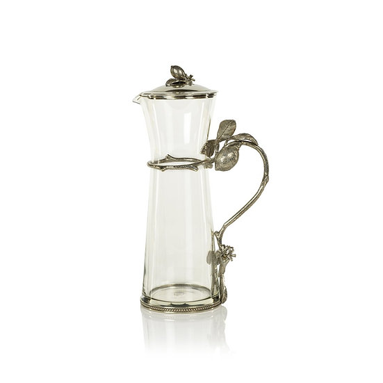 LIMÓN AGRIA PEWTER AND GLASS PITCHER WITH LID