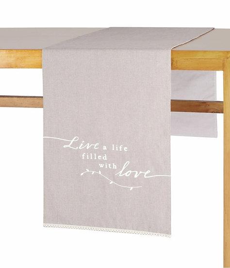 LIVE LOVE TABLE RUNNER