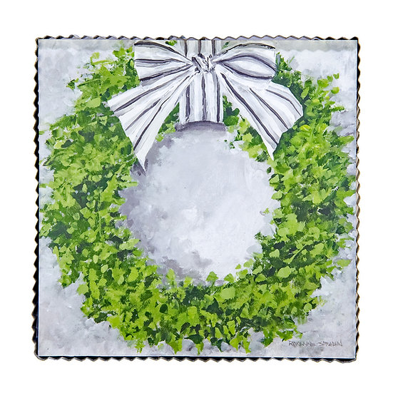 ROUND TOP COLLECTION BOXWOOD WREATH PRINT