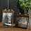 Thumbnail: PEWTER FRAMES WITH GOLD-LEAF BIRDS, SET OF 2