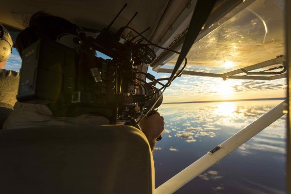 Filming Lake Eyre