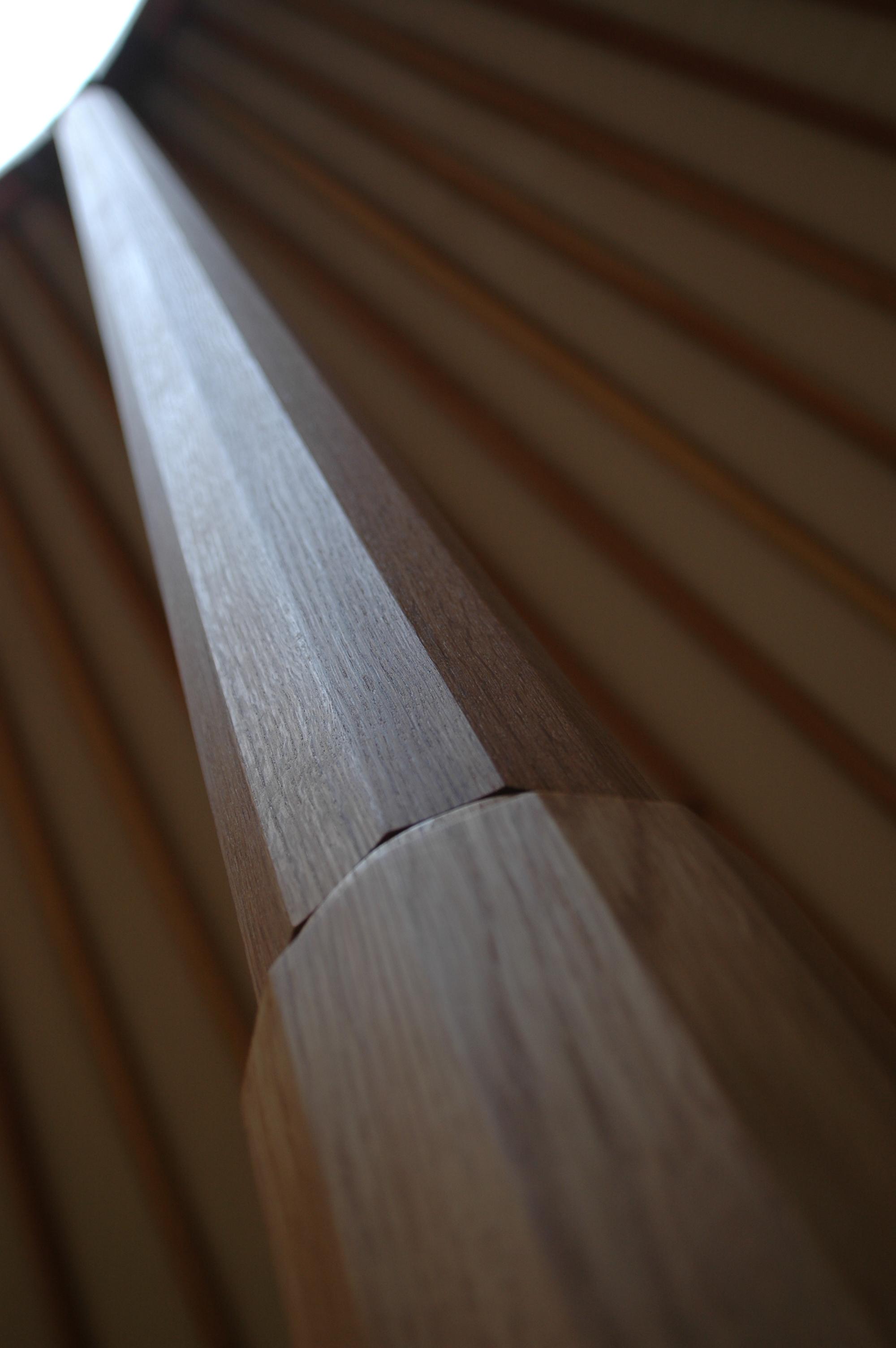 Oak wood supports