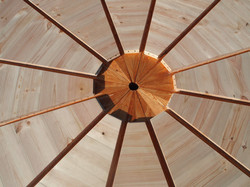Star platform for a 6,5 mts yurt