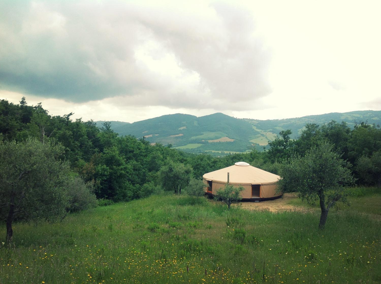 Tuscany, Sorano - 9,3 meters yurt
