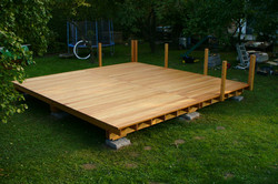Larch wood terrace